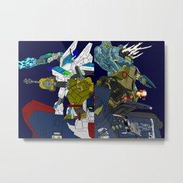 Robot Alchemic Jaeger Drive Metal Print