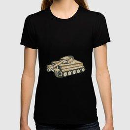 World War Two Panzer Tank Retro T-shirt