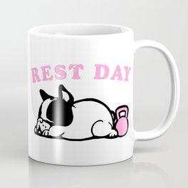 Rest Day Frenchie Coffee Mug