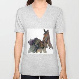 Horses #3 Unisex V-Neck