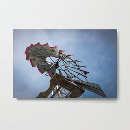 Looking Up at Challenge Company Windmill in Batavia Illinois Metal Print