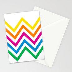 Chevron Sherbet Stationery Cards