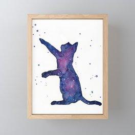 Galactic Cat Framed Mini Art Print