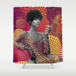 Supermodel Donyale 2 - Supermodels of the Sixties Series Shower Curtain