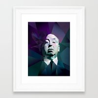 hitchcock Framed Art Prints featuring HITCHCOCK by mobokeh