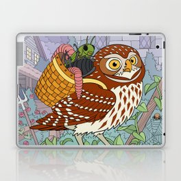 Little Owl with Packed Basket Laptop & iPad Skin