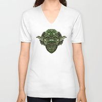 jedi V-neck T-shirts featuring Aztec Jedi master Yoda iPhone 4 4s 5 5c 6, pillow case, mugs and tshirt by Greenlight8