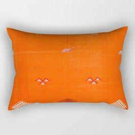 Traditional Anthropologie Moroccan orange Artwork. Art Print Rectangular Pillow