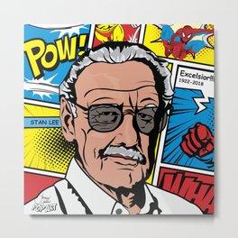Stan Lee   Pop Art Metal Print