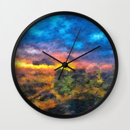 City Sunrise Wall Clock