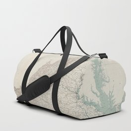 Topographic Map of the State of Virginia (1928) Duffle Bag