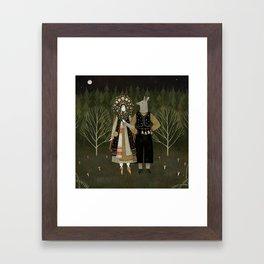 Svatba (the wedding) Framed Art Print