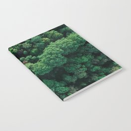 Trees from above | Forest fine art photography | Aerial drone photo print Notebook