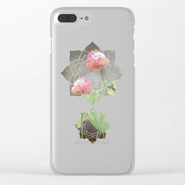 Asiatic Flowers in Pale Pink Clear iPhone Case