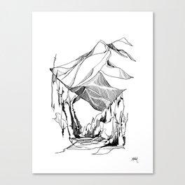 Mount Baker River Bends Canvas Print
