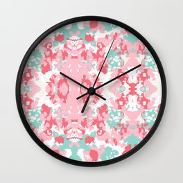 Arabella - abstract minimal pattern print art home decor trendy girly boho dorm college painting Wall Clock