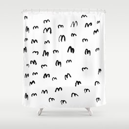 SHITLOADS OF STARLINGS Shower Curtain