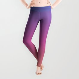 Blue purple pink orange yellow evening sky gradient Leggings