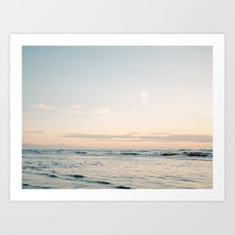 Pretty Pastel Sea | Beach travel photography art print | Soft colored fine art poster Art Print