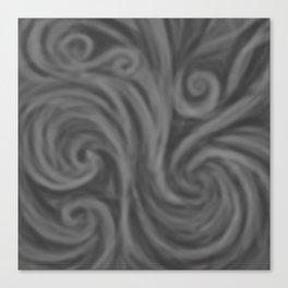 Dark Gray Swirl Canvas Print