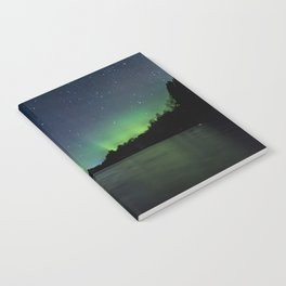 Northern Lights above a lake Notebook
