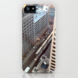 Chicago El Train Tracks Original Color Photo iPhone Case