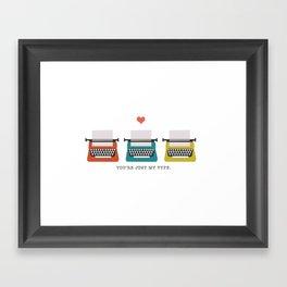 My Type Framed Art Print