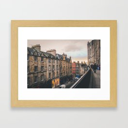 Edinburgh Sunset Framed Art Print