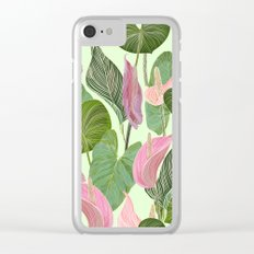 Lush Lily Clear iPhone Case