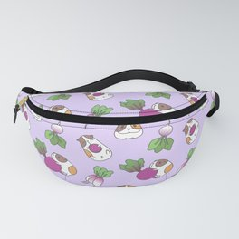 Guinea Pig and Radish Pattern Fanny Pack