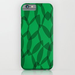 Overlapping Leaves - Dark Green iPhone Case