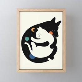 More Hugs Less Fights Framed Mini Art Print