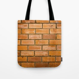 Background of red brick wall pattern texture. Great for graffiti inscriptions. Tote Bag