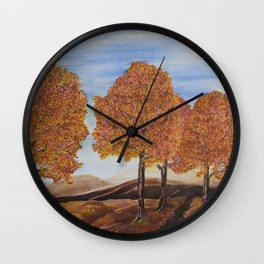 Fall trees Wall Clock