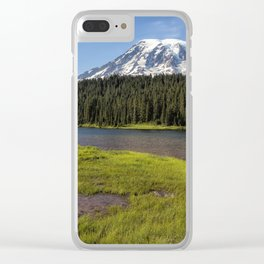 Mt Rainier from Reflection Lake, No. 2 Clear iPhone Case