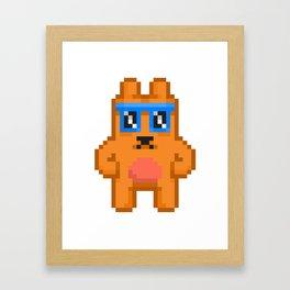 8Bit RaveBear Framed Art Print