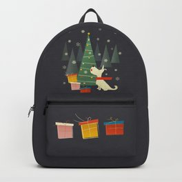 Little White Christmas Westie Backpack