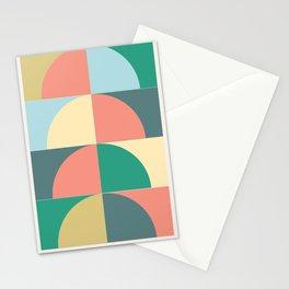 Half Circles Stationery Cards