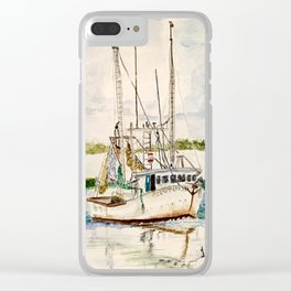 Shrimp boat Clear iPhone Case