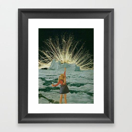 golden hair Framed Art Print
