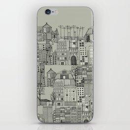 dystopian toile mono iPhone Skin
