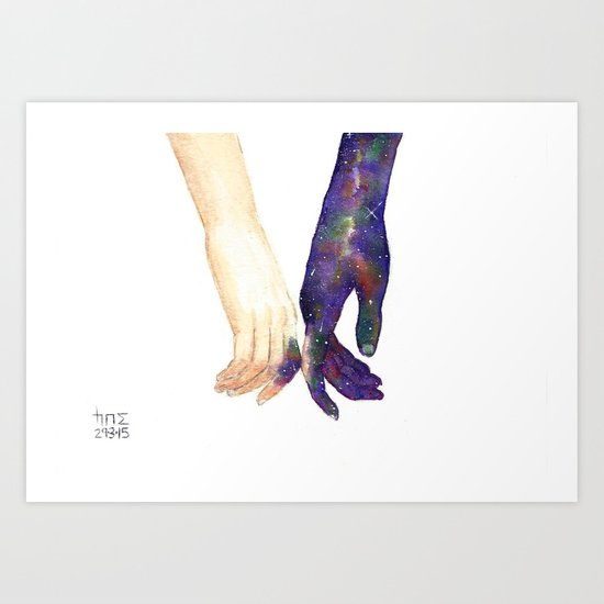 Let's Share Our Universes Art Print