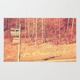 Lamp Post in the Woods Rug