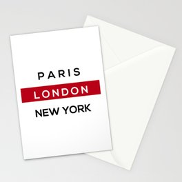 London Red Stationery Cards
