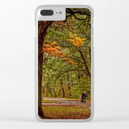 Autumn walk Clear iPhone Case