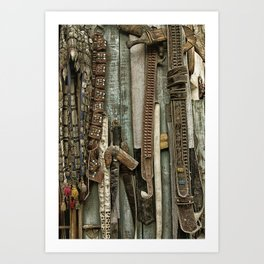 Belts and Buckles Art Print