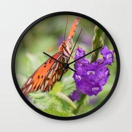 Butterfly in Ometepe, Nicaragua Wall Clock