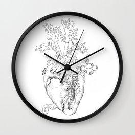 Home II: Marine Life Black and White Wall Clock