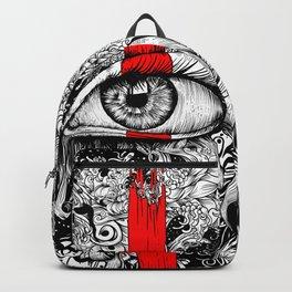 Red inked Eye Backpack