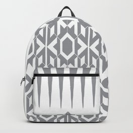 Gray Tribal Patterns Backpack
